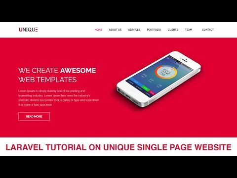 Laravel Tutorial Single page Website Development | Part 4
