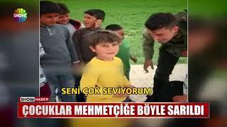 Çocuklar Mehmetçiğe böyle sarıldı