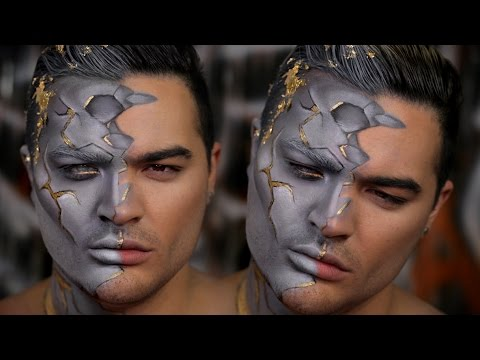 Greek Statue Halloween Makeup Tutorial - YouTube