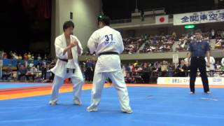 2016年4月3日に開催された第21回全関東空手道選手権大会の中量級準々決...