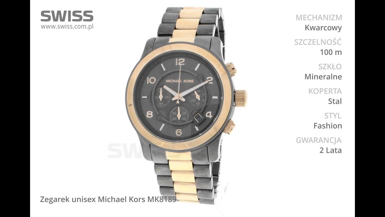 45980b4095cd4 www.swiss.com.pl - Zegarek unisex Michael Kors MK8189 - YouTube