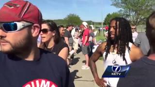 Trump supporters, opponents clash outside Omaha rally