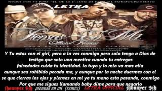 piensas en mi remix nicky jam  ft jory, yelsid, luigy 21 {letra} 2012 new reggaeton  $jh