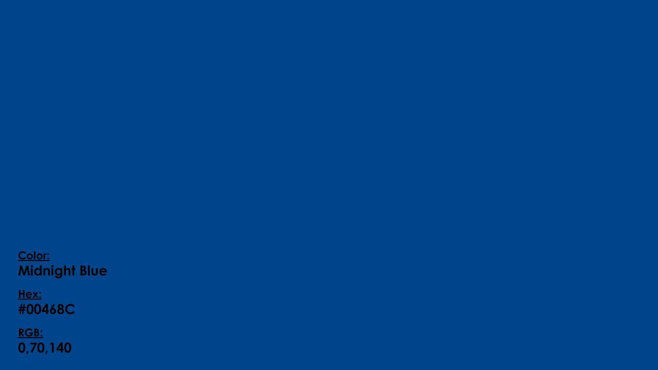 Midnight Blue 00468c 0 70 140 Crayola Crayon Color