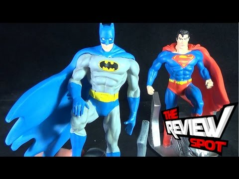 Collectible Spot - DC Comics Originals Superman and Batman Designer Polyresin Handpainted Bookends