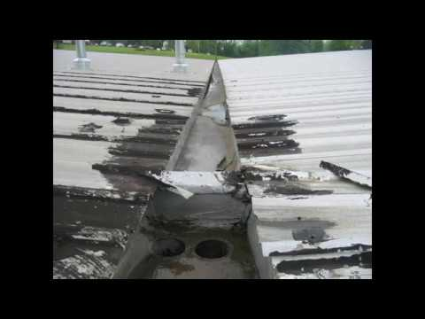 Commercial Metal Roof Valley Gutter Repair 2017 Youtube