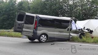 Persoon op slag overleden na ongeval op A30 -Barneveld-