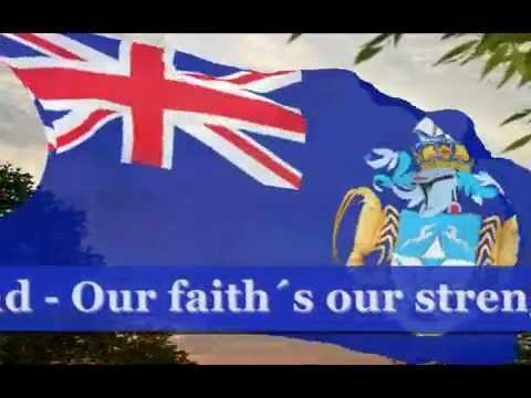 Tristan da Cunha anthem karaoke with lyrics played by Larysa Smirnoff