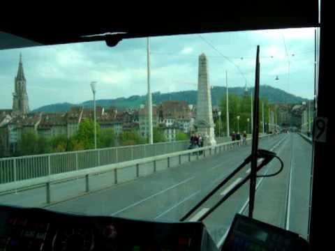 Switzerland, Berne Kursaal to City by Street-train