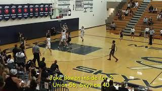 Boys basketball highlights: Union 79, Skyview 71