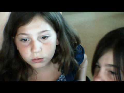 Webcam teen with dog
