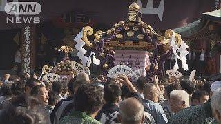 浅草三社祭が最終日 最大の見せ場「宮入り」(16/05/15)