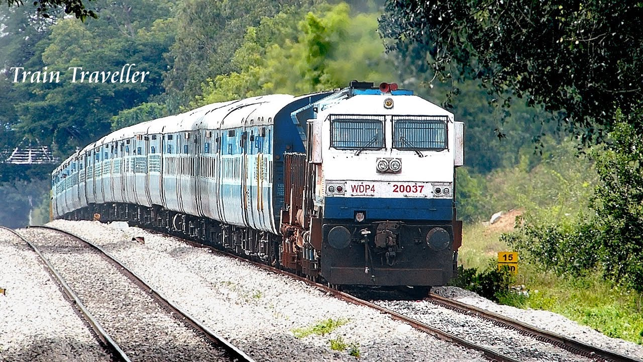 train coming from pure diesel to ugly electric terrain indian