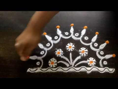 How to make rangoli design in 5 minutes