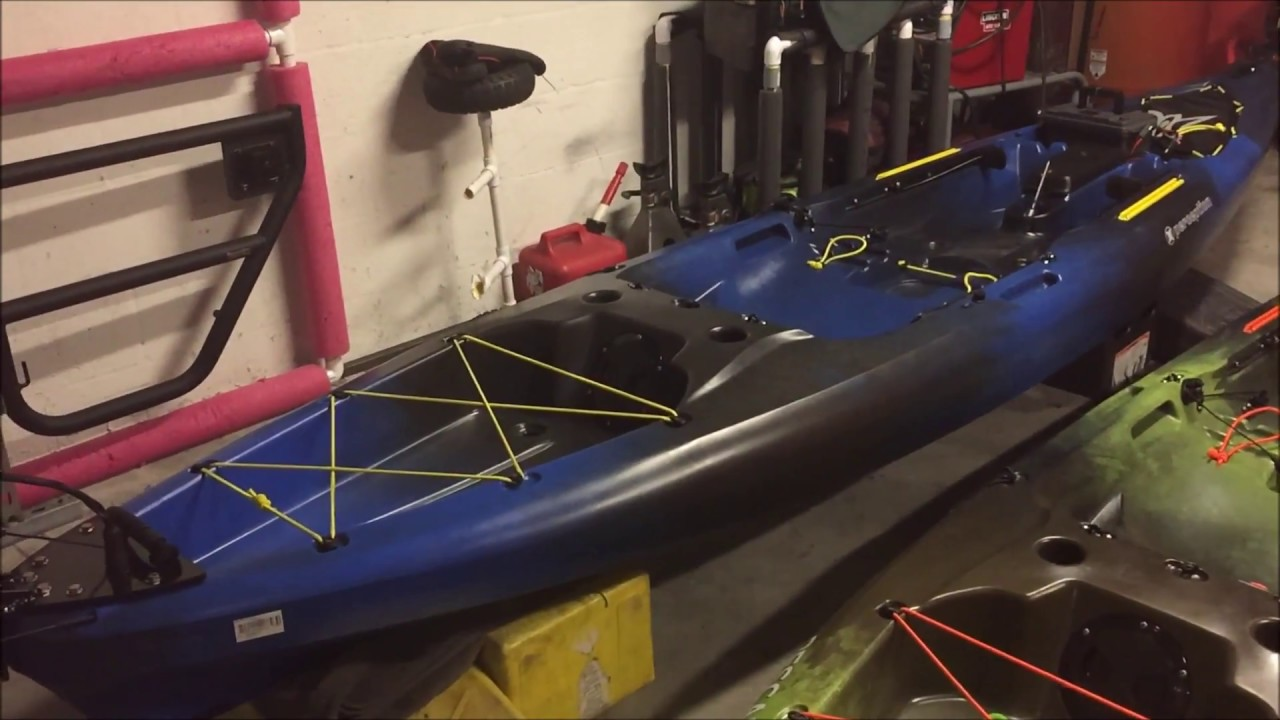 DIY Perception Pescador Pro 120 Kayak trolling motor install X 2