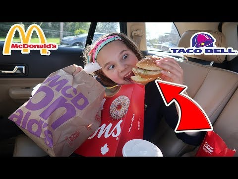 Letting The Person In Front Of Me Decide What I Eat For 24 Hours! Stranger Picks What I Eat