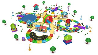 Color Cartoon City kids Play Choo Choo Train Cartoon - Toy Factory Train - Toy Train
