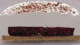 Новогодний Торт ЗИМНЯЯ ВИШНЯ Как БЫСТРО и ПРОСТО приготовить торт без духовки Рецепт торта