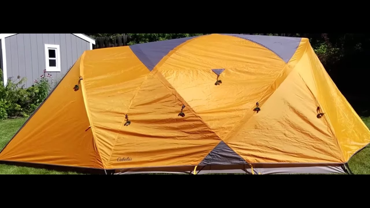 How To Set Up Cabelas 6 Person Gaurdian Tent. & How To Set Up Cabelas 6 Person Gaurdian Tent. - YouTube