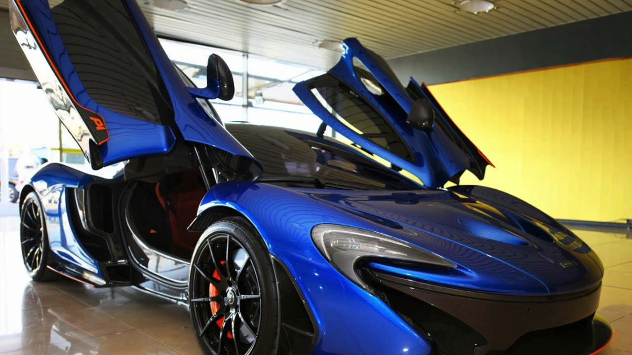 Blue Mclaren P1 With Brown Leather Interior For Sale Youtube