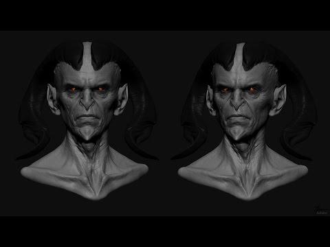 Zbrush Male sketching demon head
