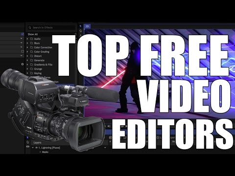 Top 3 Best FREE Video Editing Software 2017