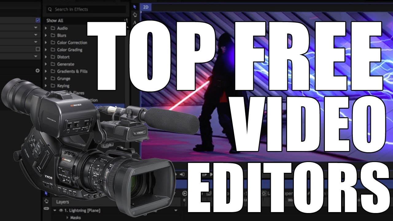 Download Top 3 Best FREE Video Editing Software 2017