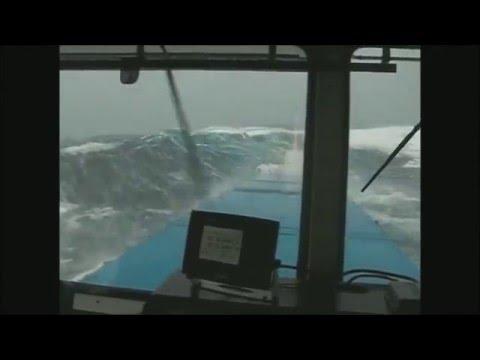 Шторм 10 балов в океане при перевозке груза