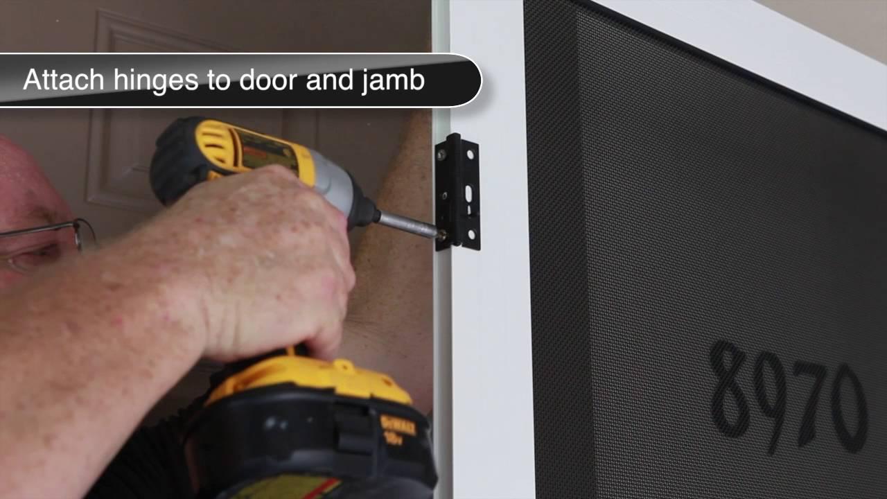 Meshtec Surface Mount Security Screen Door Installation