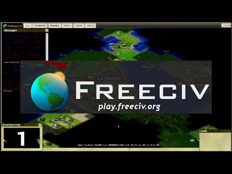 Let's Play FreeCiv  |  32 Civ Large World Map - [part 1]