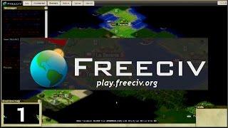let's Play FreeCiv    32 Civ Large World Map - part 1