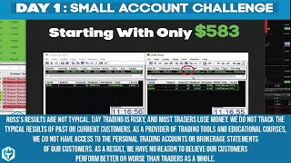 Day 1: Starting with a $583.15 Suretrader Account - 1/3/17