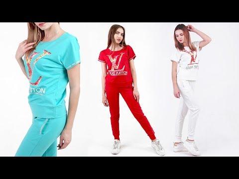 Женский спортивный костюм со стразами ▷ Edem-Textile