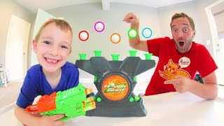 Father & Son PLAY HOVER SHOT! / Blast Them While They Float!