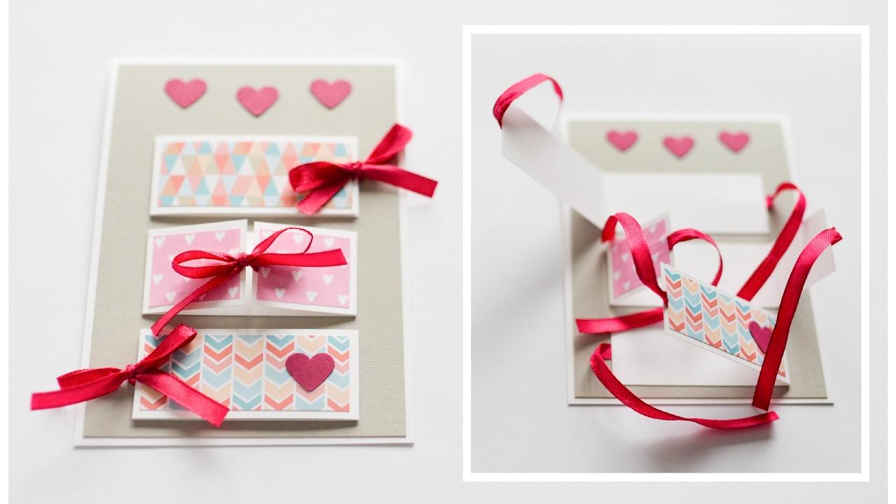 How To Make Greeting Card Valentine S Day Step By Step Diy Kartka Walentynkowa