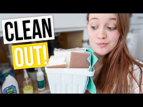 CLEAN UNDER MY SINK WITH ME! | Let's Get Minimal Ep. 5