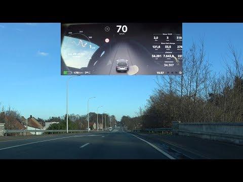 Explaining Tesla Autopilot 2 0 Erratic Behaviour in software update 2018.4.1