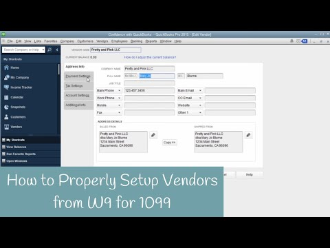 How To Setup Vendors From A W9 To Receive 1099's In QuickBooks