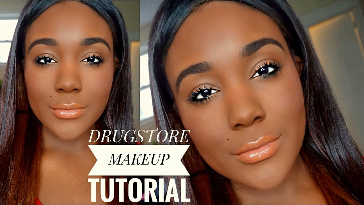 fresh face natural drugstore makeup tutorial for black women 2017