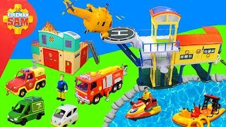 Feuerwehrmann Sam: Spielzeug & Feuerwehrautos Unboxing   Leuchtturm & Feuerwehrstation für Kinder