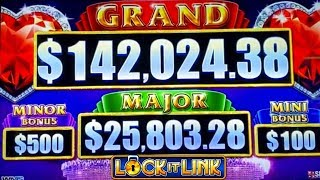 High Limit Lock It Link Diamond Slot Machine Live Play | Season 8 | Episode #16