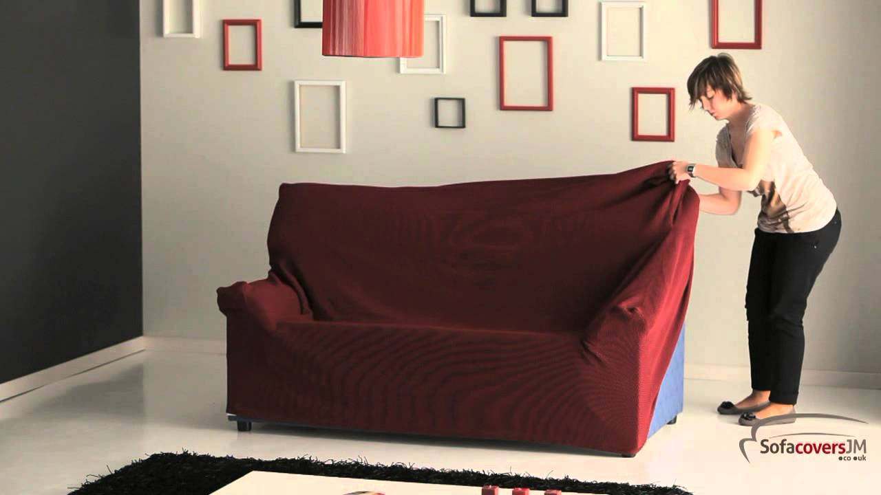 sofa covers low price sectional seat how to install a elastic cover youtube