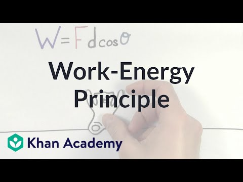 Work and the work-energy principle | Physics | Khan Academy