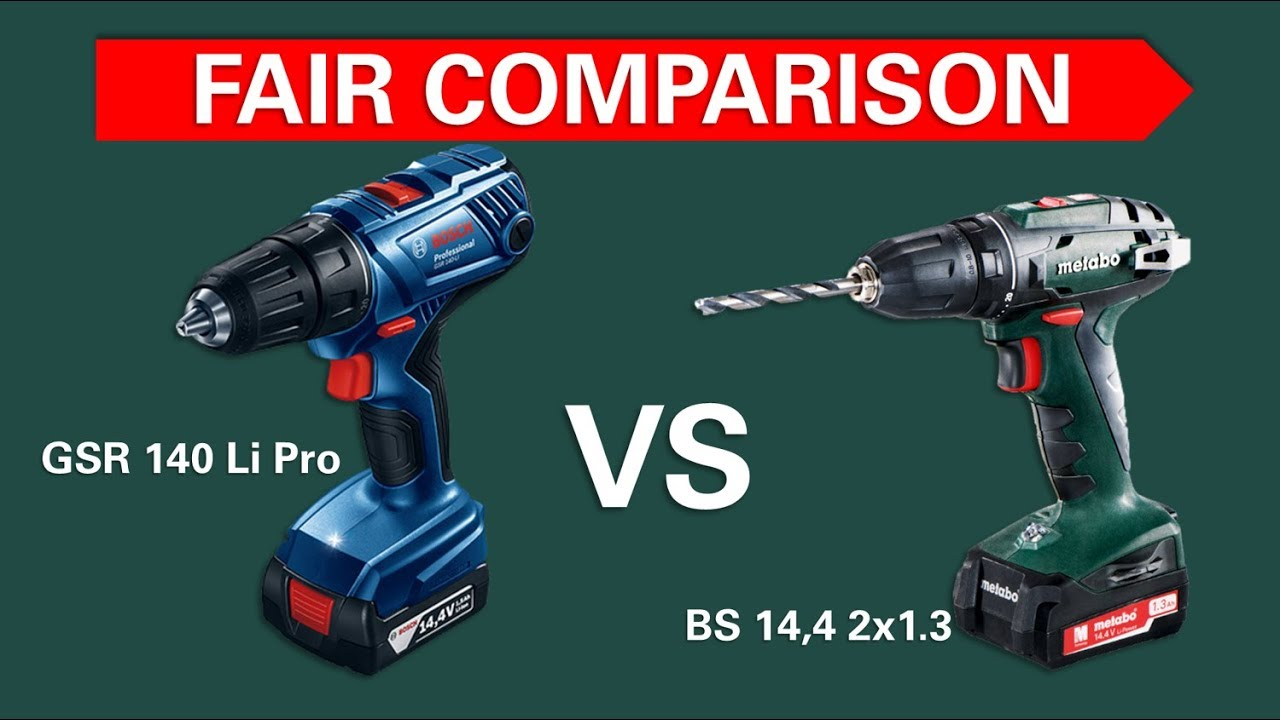 test screwdrivers bosch gsr 140 vs metabo bs 14 4 youtube. Black Bedroom Furniture Sets. Home Design Ideas