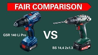 Test screwdrivers Bosch GSR 140 vs Metabo BS 14.4