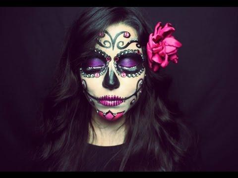Sugar Skull Makeup Tutorial Maquillaje De Catrina Cecilia Del Bosque