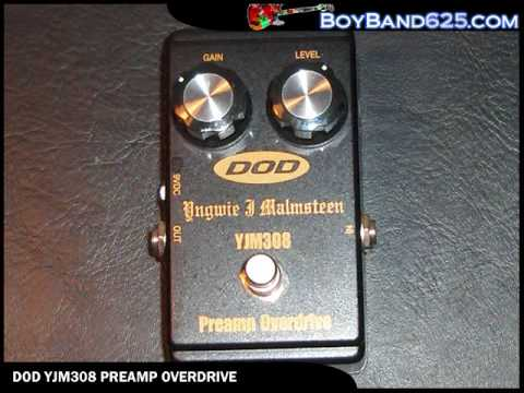 dod yjm308 preamp overdrive electric guitar effects pedal demo youtube. Black Bedroom Furniture Sets. Home Design Ideas