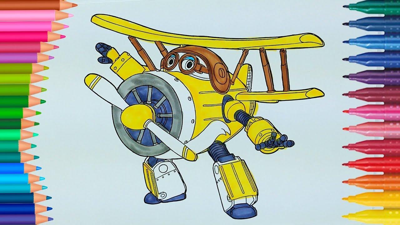 Super Flügel Donnie | Wie zeichnet und färbt Super Flügel Donnie ...
