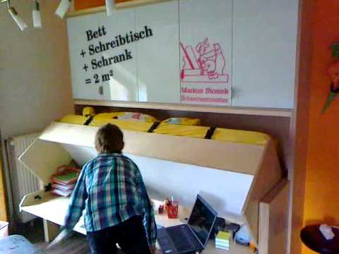 schreinerei markus stosiek das bett mit schreibtisch tavoletto youtube. Black Bedroom Furniture Sets. Home Design Ideas