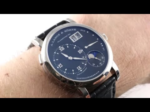 A. Lange \u0026 Sohne Lange 1 Moon Phase 192.029 Luxury Watch Review